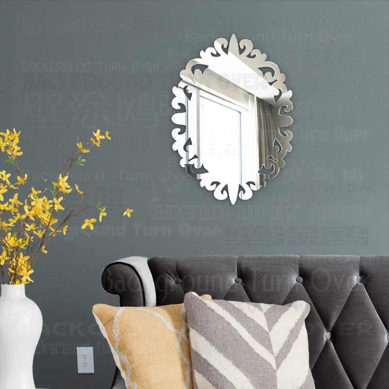 Mirror Wall Mirrors Bedroom Round Decor Vanity Kawaii Makeup Stickers Vintage Body Small For Home Room Full Oval M006 Aliexpress Com Imall Com