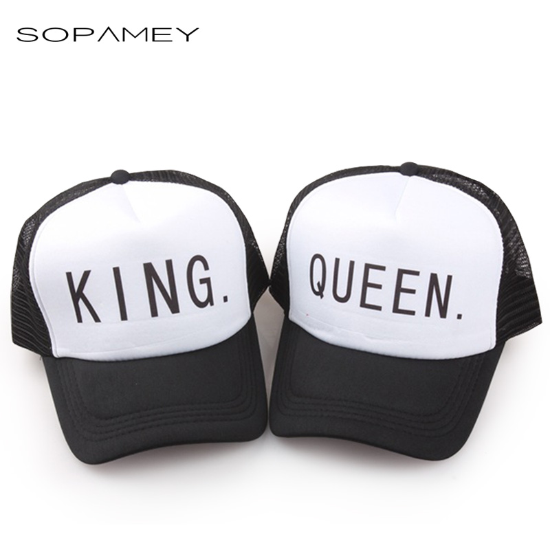 KING QUEEN Baseball caps Hip-Hop Lovers Snapback Hat Trucker Mesh cap Women Gift for Girlfriends Her High Quality Hats Gorras mnkncl new fashion style neymar cap brasil baseball cap hip hop cap snapback adjustable hat hip hop hats men women caps