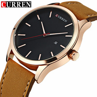 Curren Men S Sports Quartz Watches Men Watches Top Brand Luxury Analog Leather Wristwatches Waterproof Relogio