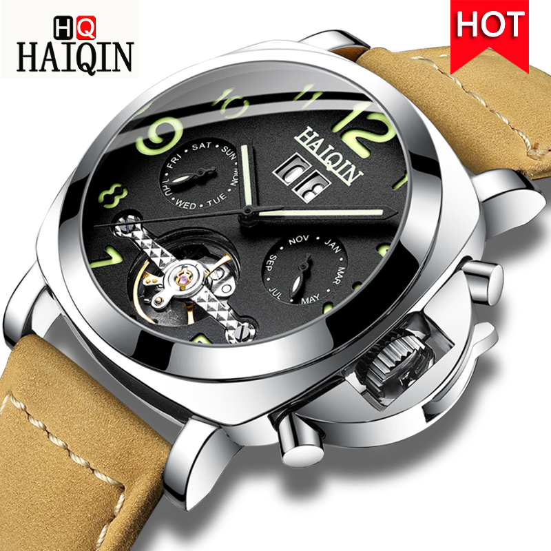 HAIQIN Mens Watches Watch Men 2019 Sports / Automatic / Mechanical / Luxury / Military / Watch Men Top Luxury Brand Waterproof HAIQIN Mens Watches Watch Men 2019 Sports / Automatic / Mechanical / Luxury / Military / Watch Men Top Luxury Brand Waterproof