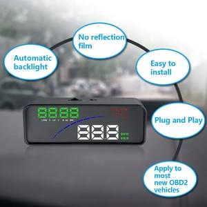 Image 2 - GEYIREN P9 Car HUD Head Up Display OBD Smart Digital Meter For Most OBD2 EUOBD Cars P9 HD Projector Display The Car Dashboard