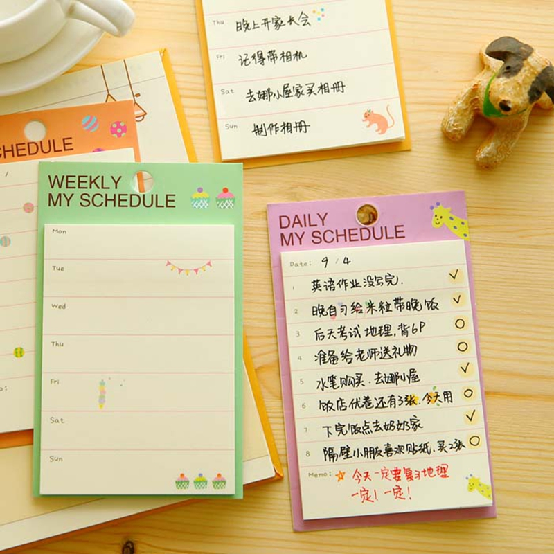 yoofun 24 pieces lot cute korean weekly and daily planner