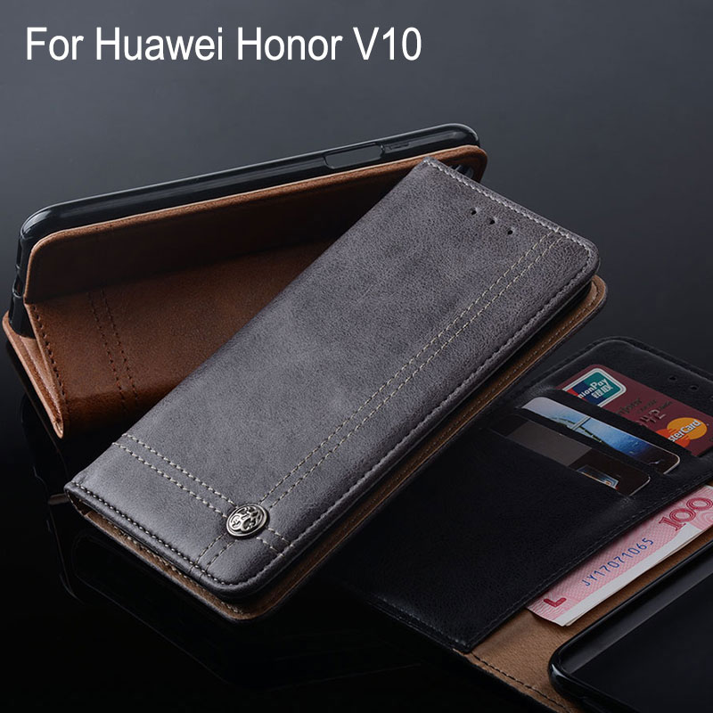 Galleria fotografica for huawei <font><b>honor</b></font> <font><b>View</b></font> 10 case Luxury Leather Flip cover Stand Card Slot phone Cases for Huawei <font><b>Honor</b></font> V10 funda Without magnets