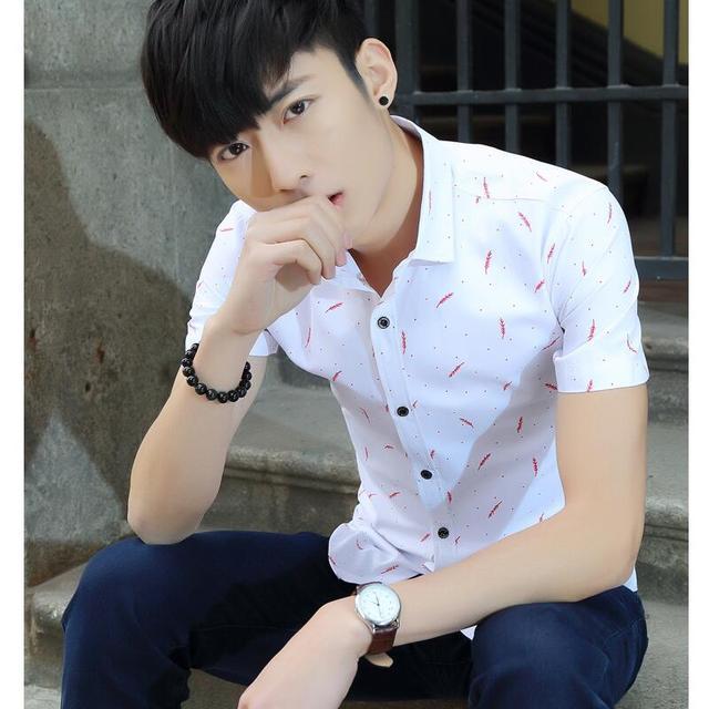 0524859153 Diseñador para hombre con mangas cortas Camisas nuevo verano estilo Moda hombre  Camisas de traje manga