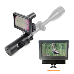 Visione Notturna Riflescope di Caccia di Giorno e di Notte Tattico Digitale A Infrarossi Vista di Notte con DISPLAY LCD e Torcia Elettrica di Caccia Scopes
