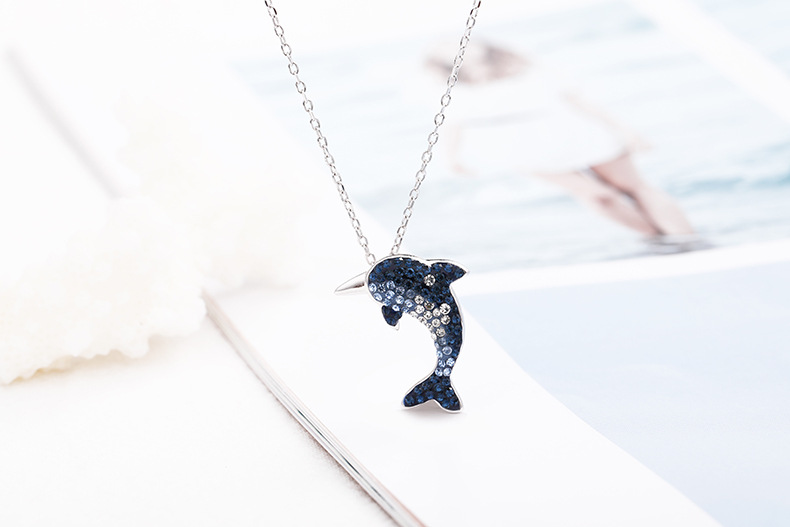 dolphin silver necklace for women11