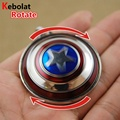 Movie Series Key Chain Rotate Captain America Shield Keyring Keychain for Keys Chaveiro Llavero Key Ring Key Holder porte F-0124