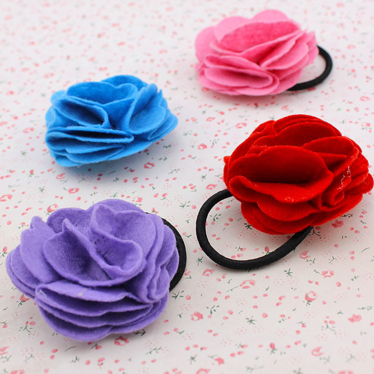 Edition cloth art ornaments headdress flower Camellia hair bands of rose, free home delivery south korean hair headwear pearl rose flower hair bands free home delivery