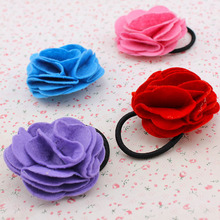 Edition cloth art ornaments headdress flower Camellia hair bands of rose, free home delivery