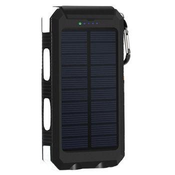 Αδιάβροχος ηλιακός φορτιστής με φακό πυξίδα και 2 USB Power Banks Gadgets MSOW