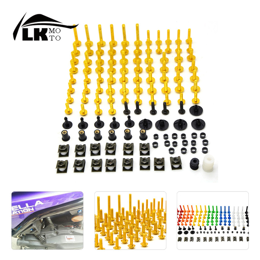 Universal CNC Motorcycle Fairing Body Work Bolts Spire Speed  Fastener Clips Screws Nuts for KTM RC 125/200/390  B-KING