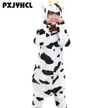 Взрослых Аниме Kigurumi Комбинезоны Корова косплей костюм для Для Женщин  Животного Человек-паук Тигр Единорог Onepieces пижамы Д.. 5dbf5e4577c70