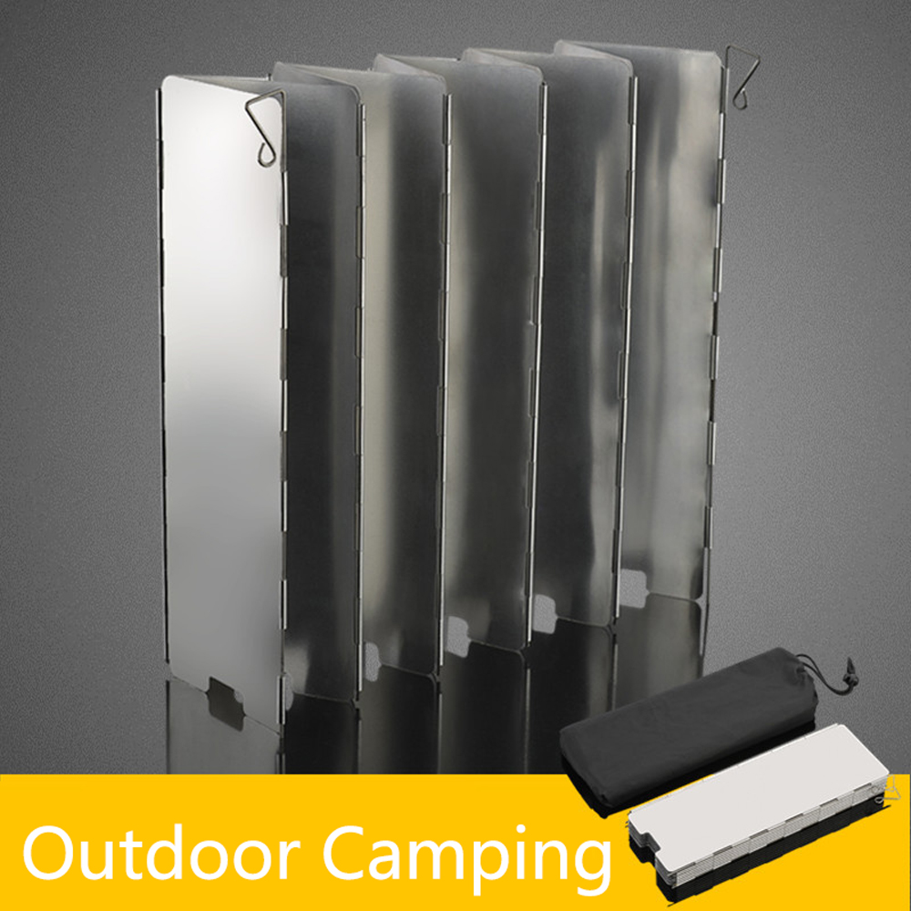 Foldable Mini 8/9/10 Plates Cooker BBQ Gas Stove Wind Shield Screen Picnic Outdoor Camping Wind Screen Hot Sale