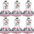 White Top Milk Cow Lacing Cowgirl Braid Hat Birthday Pink Milk Cow Skirt 1-8Year MAPSA0412