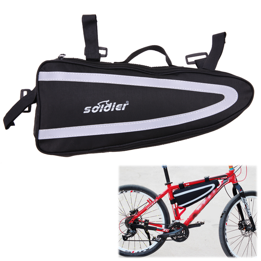 Black Bicycle Bike Bag Front Frame Tube Triangle Mobile Bag for A Bicycle Cycling Bicycle Accessories Bisiklet Aksesuar