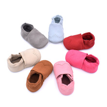 2019 Spring and Autumn New Boys Girls nubuck leather Baby shoes 0-1 Soft Bottom Toddler Shoes 7 color