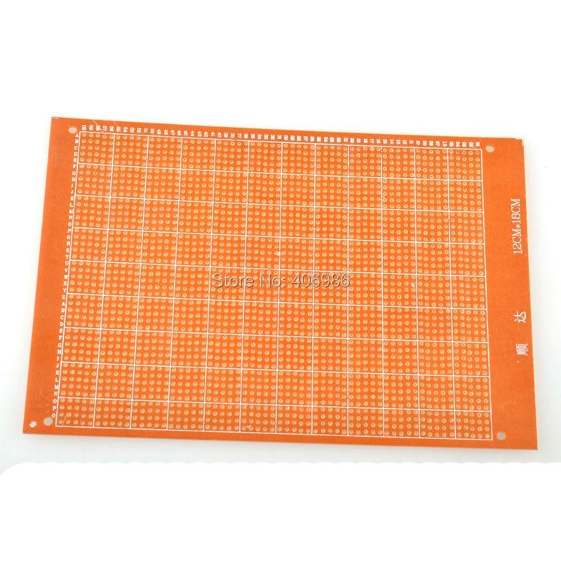 5pcs/lot Breadboard ProtoBoard 12cm * 18cm Double-Side Circuit Prototype DIY PCB Board for Arduino FZ0256