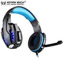 EACH G9000 USB 7.1 Surround Sound Version Gaming Headphone Headset Noise Isolation headband with Micr LED Light retail package