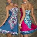 New Arrival Sexy Women Mini Dress Casual Floral Bandeau Beach Summer Boho Maxi Sundress LKT