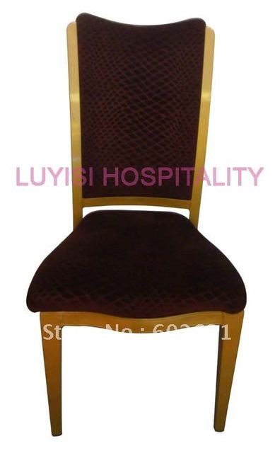 Hot Stackable Wood Imitation Aluminum Dining Chair Heavy Duty Fabric With High Rub Resistance
