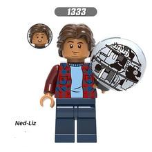 Одиночная LegoINGlys Супер Герои вдали от дома Человек-паук Фигурки Мистерио Мария Хилл гидро-человек Ned-Liz блок игрушки детский подарок