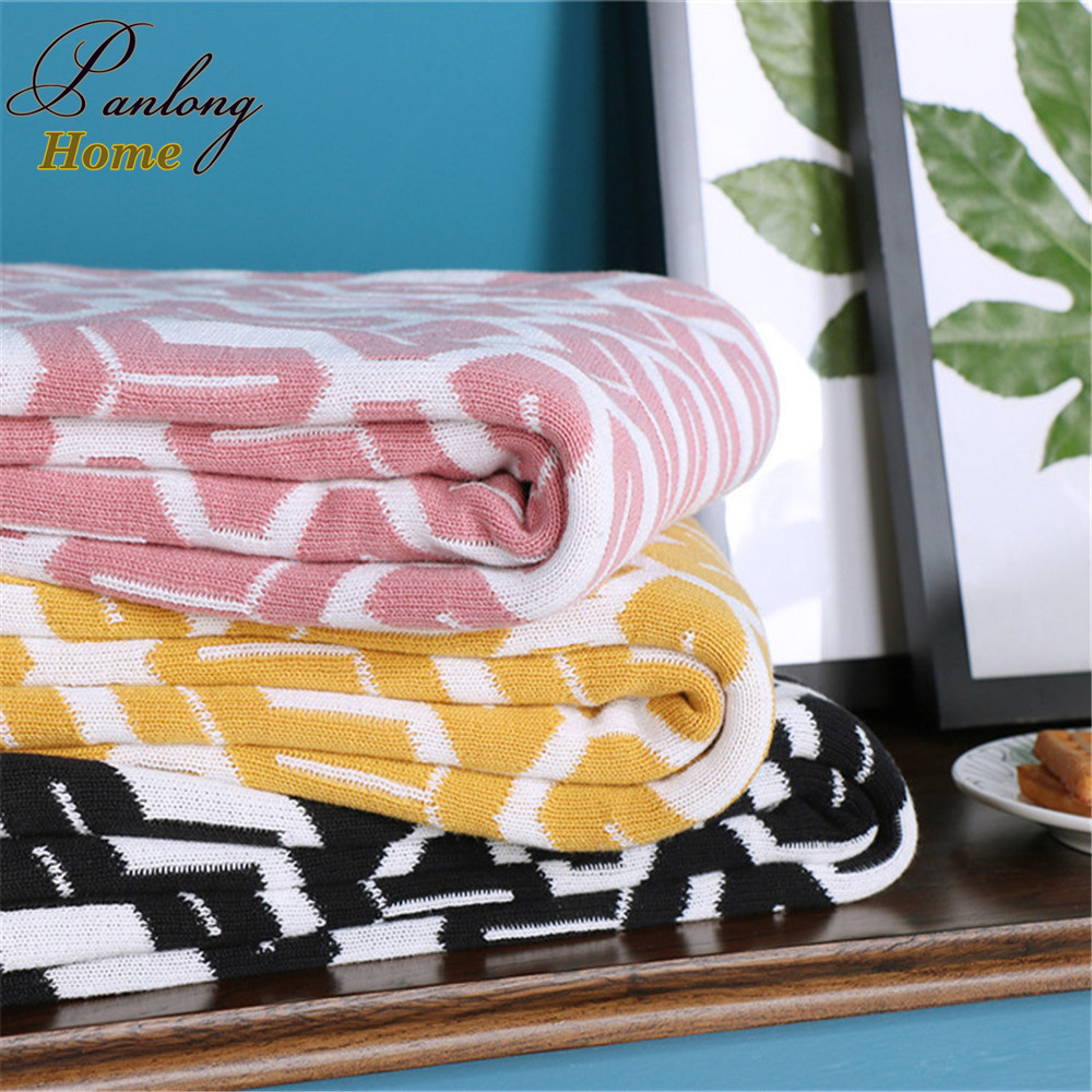 PanlongHome Sofa  Blanket Cotton Knitted Blanket Home Decoration New Products