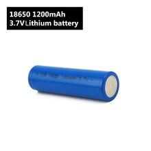 Latarka 18650 bateria 3.7 V 1200mah akumulator litowo jonowy do Power Bank/e Bike 18650 zestaw akumulatorów (1 szt.)