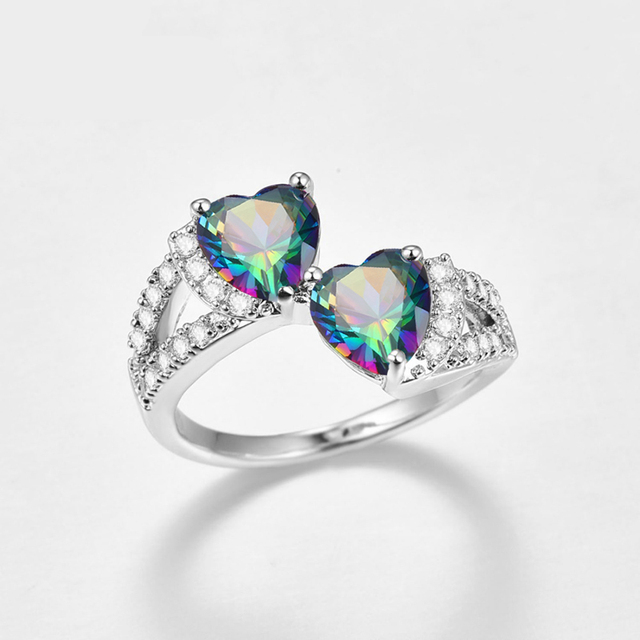 Double Hearts Designed Ring