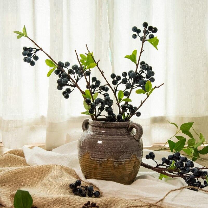 Artificial Flower Raspberry Berry Long