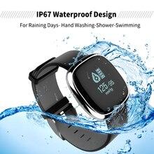 P2 IP67 Waterpoof сердечного ритма Приборы для измерения артериального давления Мониторы умный Браслет Bluetooth умный браслет шагомер