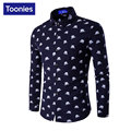 Mens Dress Shirts Brand-clothing Camisa Social Masculina Long Sleeve Camisa Slim Fit Printed Roupas Masculina Cool Chemise Homme