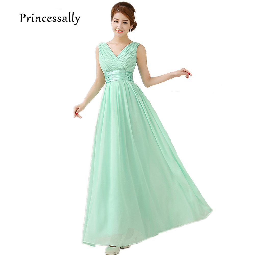 Long Light Blue Dress Bridesmaid Dress Chiffon Formal Dresses Of ...