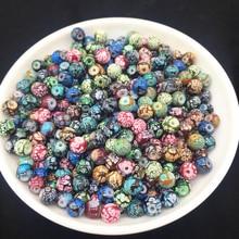 6 8 10 мм Смешанные Различные цвета бусы из стекла и камней DIY серьги браслет колье ожерелье Изготовление ювелирных изделий