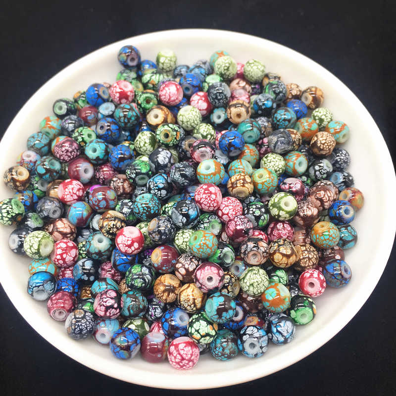 6 8 10mm Mixing Variety Of Colors Glass Stone Beads DIY Earrings Bracelet Choker Necklace Jewelry Making