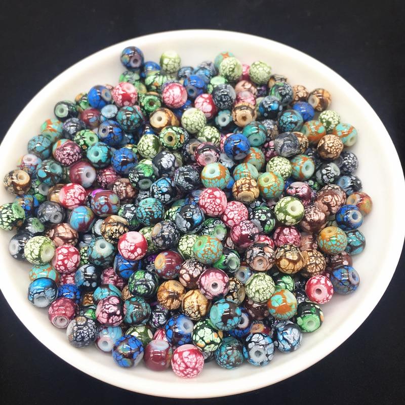 6, 8, 10 мм, разноцветные бусы из стекла и камней, серьги, браслет, ожерелье, изготовление ювелирных изделий