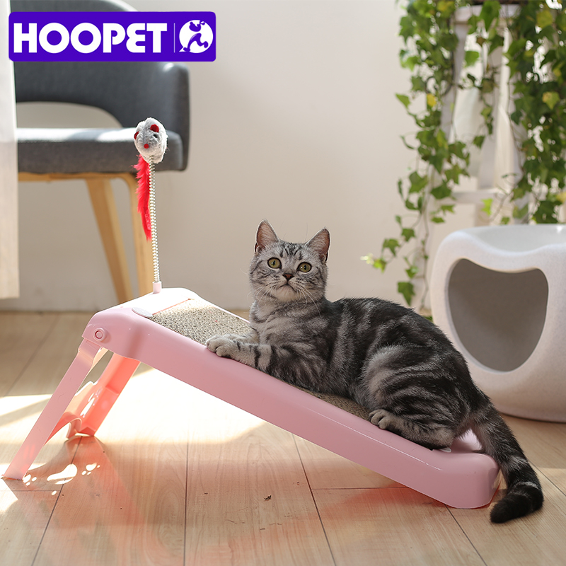HOOPET Pet Toy Cat Scratch Board Grinding Nail Scratching Post Corrugated Paper Funny Toy For Cat Kitty Stuffed Mouse