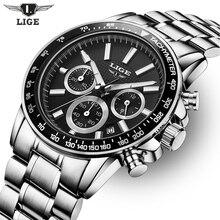 Lige мужские спортивные часы лучший бренд класса люкс кварцевые часы Дата часы кожаный ремешок моды случайные часы мужские военные наручные