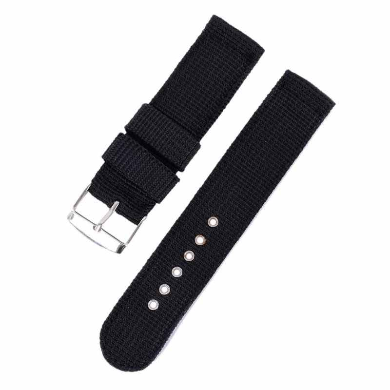 4 Color Military Army Watch Band Nylon Fabric Canva Wrist Watch Band Strap 18/20/22/24mm Reloj Kol Saati