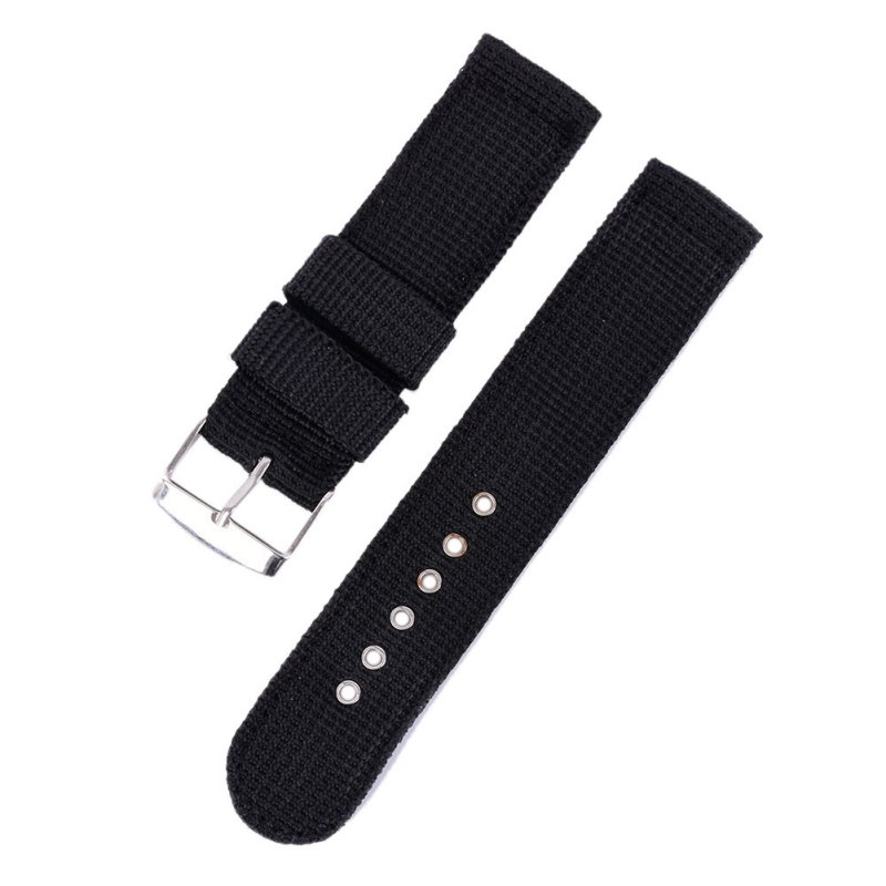 4 Color Military Army Watch Band Nylon Fabric Canva Wrist Watch Band Strap 18/20/22/24mm Reloj Kol Saati цена