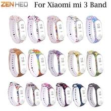 Bracelet For Xiaomi Mi 3 Band Sport Strap watch Silicone For xiaomi mi band 3 accessories strap bracelet Miband3 Strap 2018 New цена