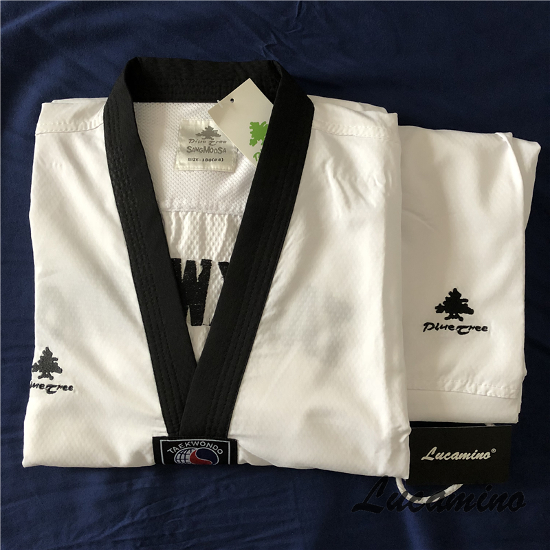 Breathable Pine tree SANG MOO SA taekwondo doboks Original good quality light Taekwondo uniforms for summer