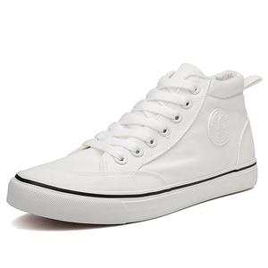 Image 2 - ZYYZYM Shoes Men Spring Autumn Lace up High Top Style Men Vulcanize Shoes Fashion Flats Youth Men Canvas Shoes Sneakers