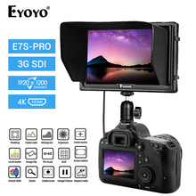 Eyoyo E7S PRO 7 inch DSLR On Camera Field Monitor IPS Full HD 1920x1200 3G SDI 4K HDMI Small Slim IPS Camera Video Monitor 4K lilliput a7s 7 ultra slim ips full hd 1920 1200 4k hdmi on camera video field monitor for canon nikon sony dslr camera video