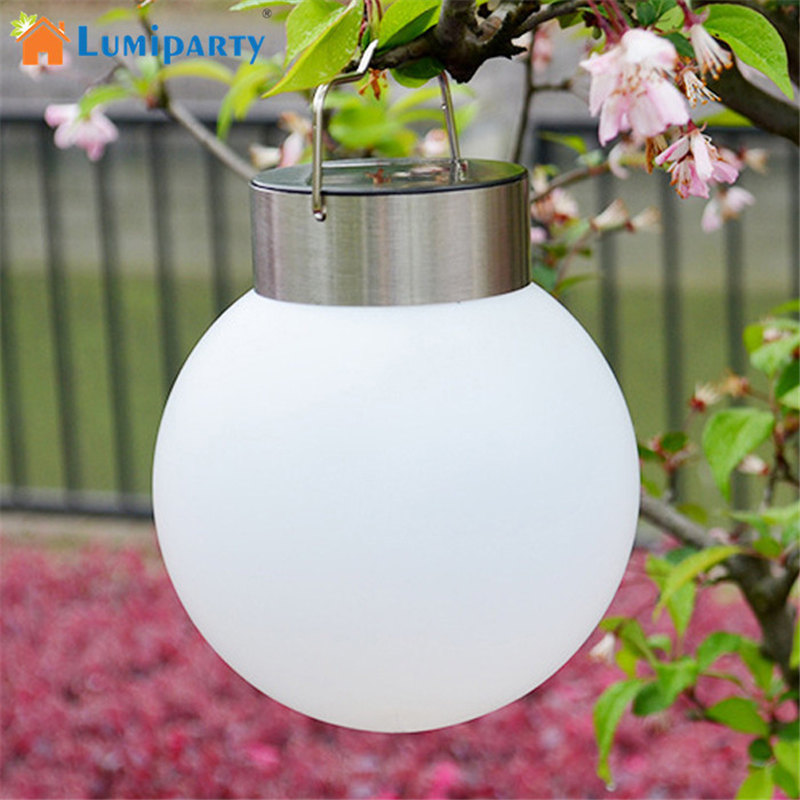 LumiParty Yards & Beyond Dual Use Solar Lights Waterproof Outdoor Garden Solar Light Home Decoration Hanging Ball Lamp-2pcs