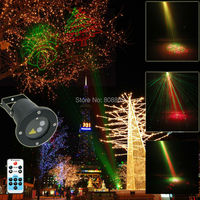 R G Remote Outdoor Waterproof Xmas Laser Projector 8 Christmas Landscape Light Holiday Dance Club