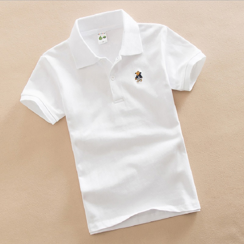 Solid Fashion Boys Polo Shirts 3-15 Years Children Polo's Tops Short Sleeve Summer Baby Boy Clothes Shirt Cotton Jersey Tees