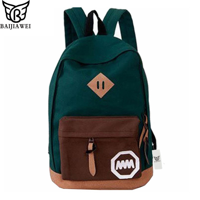 BAIJIAWEI Woman Backpack Hot Sale New Women School Bag Printing ...