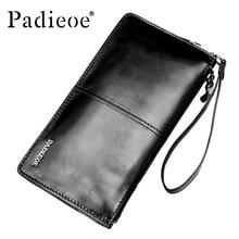 Padieoe Brand Men Wallets Money Pocket Business Mens Genuine Leather Wallet Men Clutch Male Wallet Card Holder Coin Purses