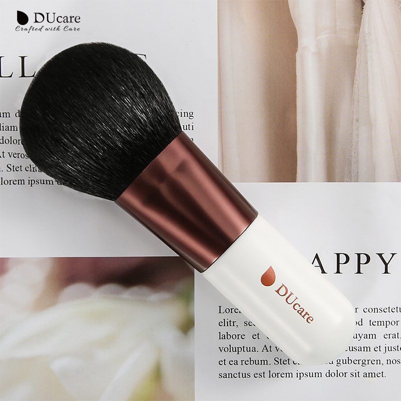 DUcare Powder Brush Soft Goat Hair make up brush High Quality Kabuki Brush Makeup Brushes Cosmetics Tools brochas maquillaje in Eye Shadow Applicator from Beauty Health