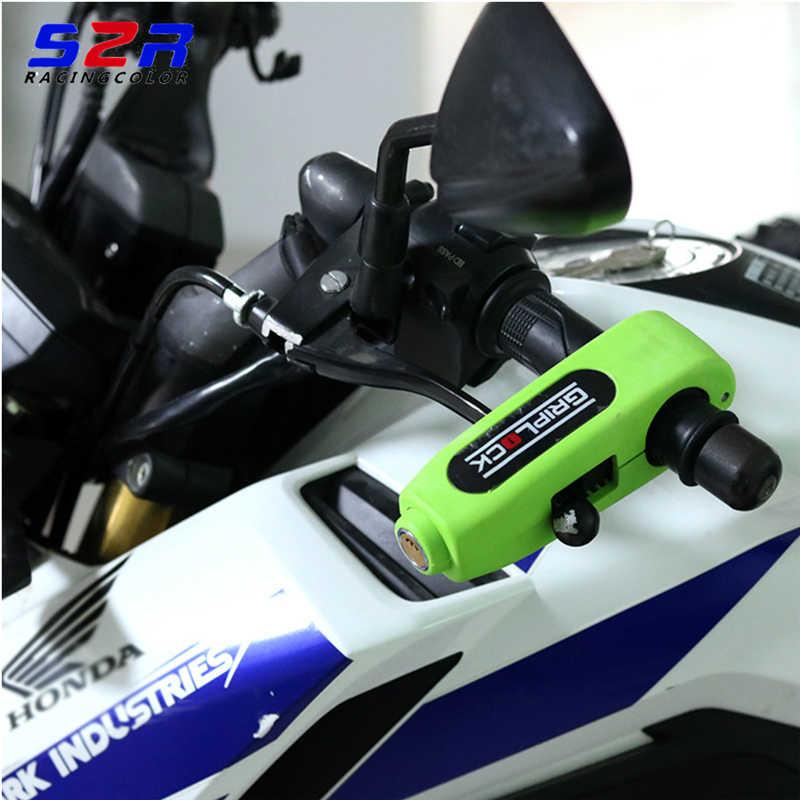 1PC Motorbike Lock Durable Grip Lock Handlebar for ATV Scooter Motorcycle